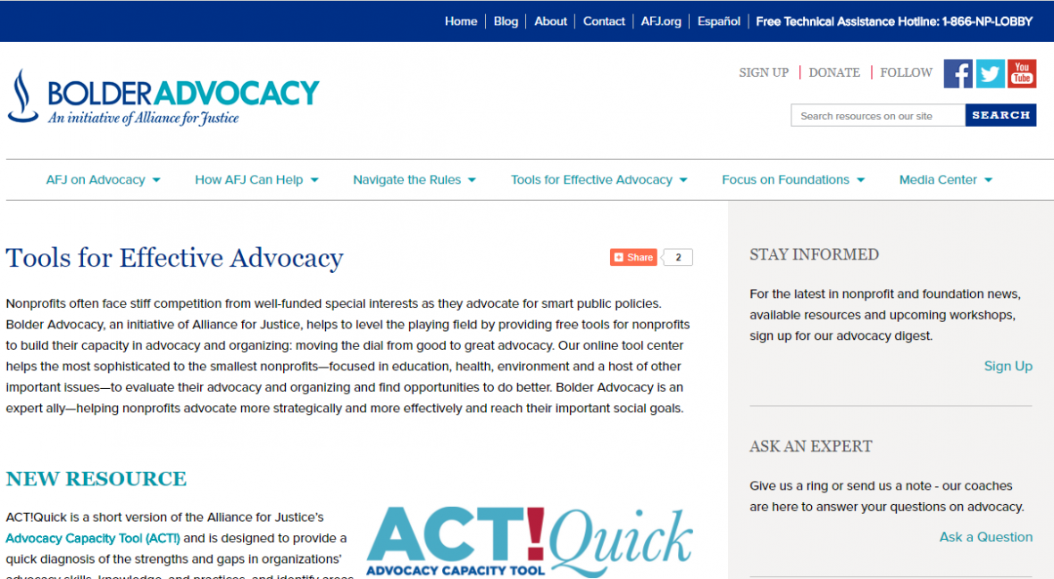 Tools for Effective Advocacy