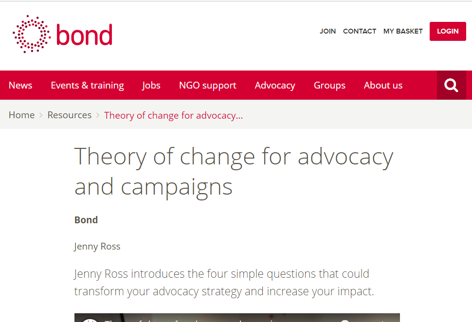 Theory of change for advocacy and campaigns