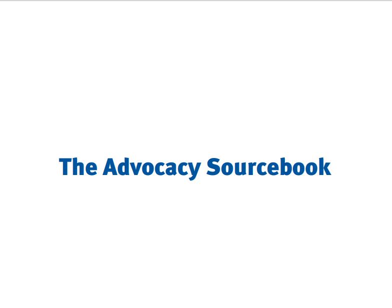 Advocacy Sourcebook