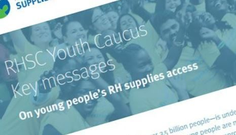 RHSC Youth Caucus Key Messages on Young People's RH Supplies Access