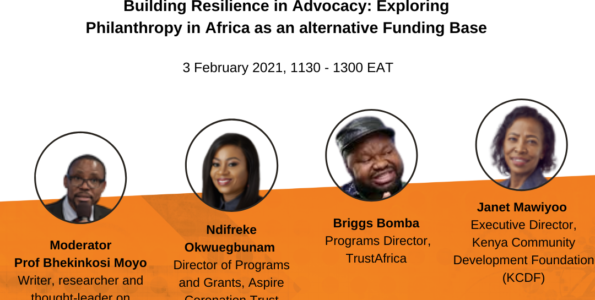Building Resilience in Advocacy : Exploring Philanthropy in Africa as an Alternative Funding Base